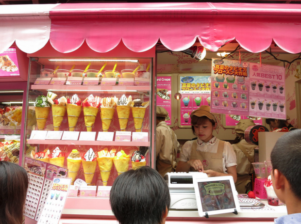 comida curiosidades kawaii ocio tokyo turismo  Los Impresionantes Crepes de Harajuku