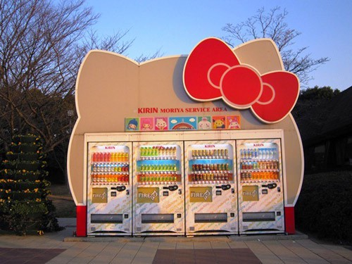 Hello Kitty Vending Machine Station