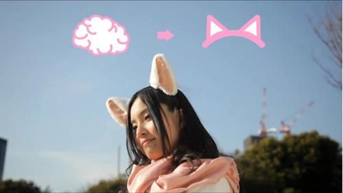 Necomimi, las orejas de gato biomecánicas