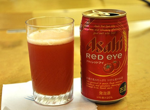 Nueva cerveza Asahi con tomate