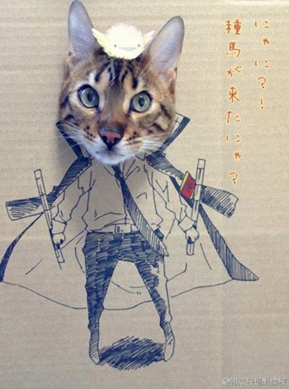 actualidad anime curiosidades japon kawaii sociedad  Gua-Gua, el gato de las Mil Caras