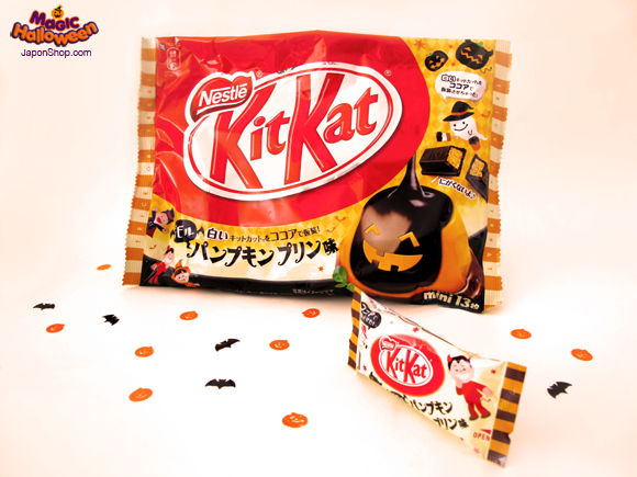 Combini Lovers: Kit Kat de Pudding de Calabaza. Edición Halloween.