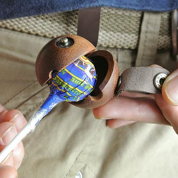 Lo último en Japón; Fundas de madera y cuero para los Chupa Chups