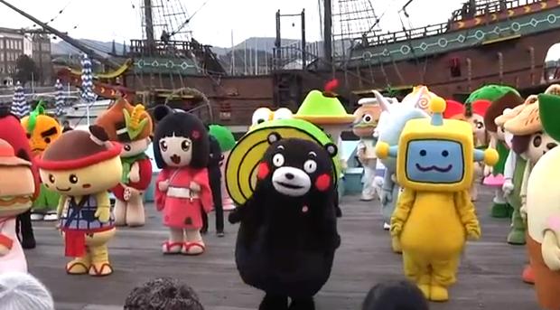 Record Guinness; 141 mascotas kawaii bailando a la vez!