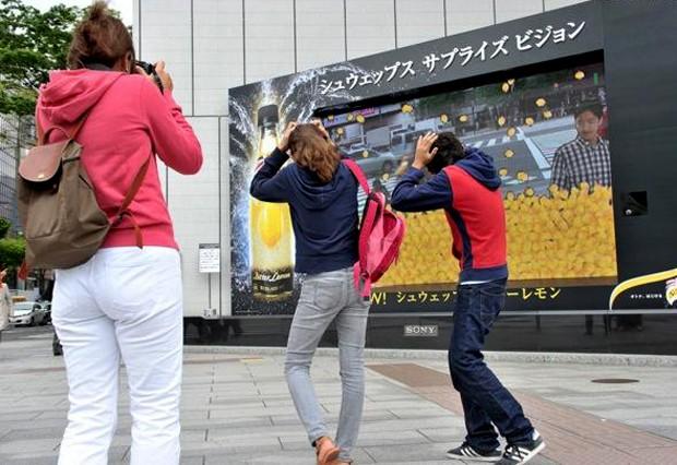 Lluvia de limones en pleno Ginza