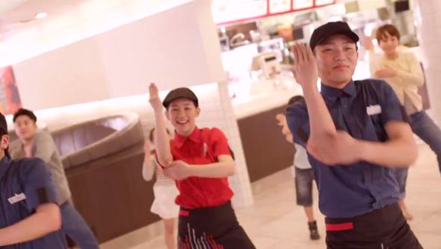 """actualidad comida curiosidades japon musica ocio publicidad sociedad spots video  """"McCrew Dancing"""", el baile de Mc Donald's Japón"""