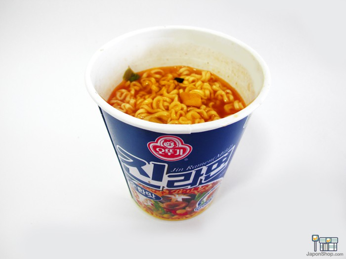 Combini Lovers Review: Ramen Coreanos de Carne Jin Blue Cup