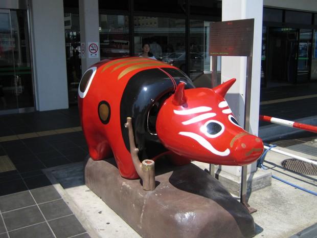 """animales curiosidades japon sociedad  """"Akabeko"""", el Buey Rojo de la buena salud"""