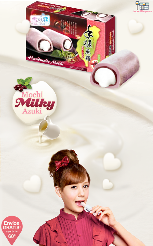 Combini Lovers comida japonshop  Combini Lovers Review: Mochis Milky Cream de Azuki | Yuki & Love Box