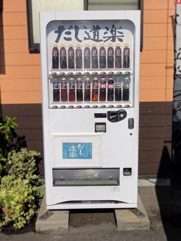 Máquina expendedora de caldo Dashi embotellado