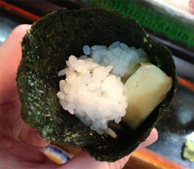 Sushi con helado