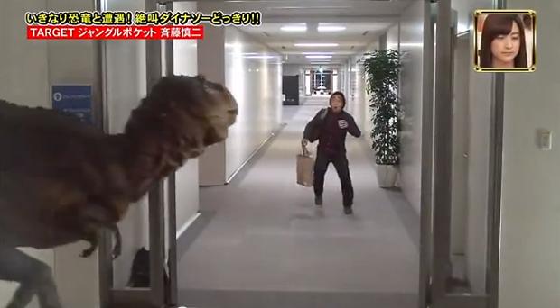 actualidad Concursos curiosidades japon ocio sociedad video  Bromas con dinosaurios en la TV Japonesa