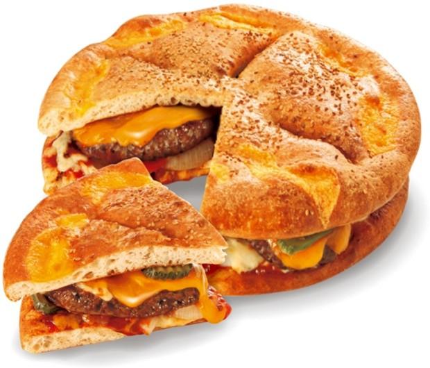 """¡Lanzan en Japón la """"Megaburgerpizza"""" de 1,2 Kg!"""