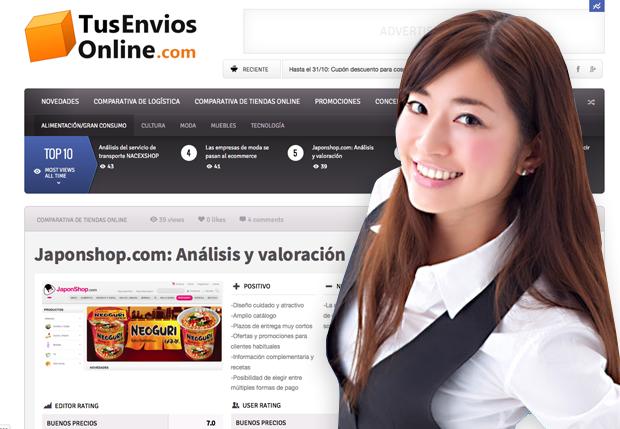 Completo análisis a JaponShop.com del portal TusEnviosOnline.com