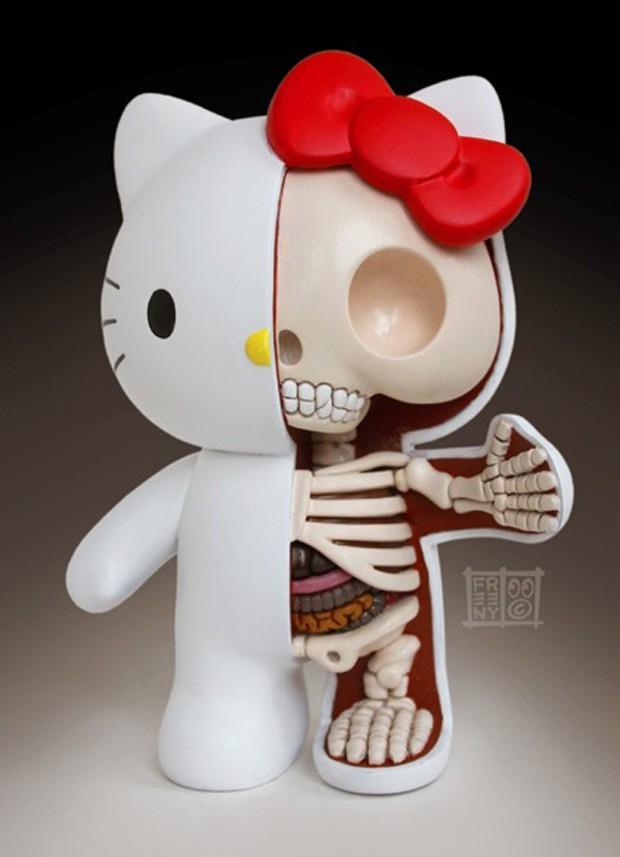 """actualidad curiosidades japon kawaii ocio sociedad  Feto y Esqueleto de """"Hello Kitty"""""""