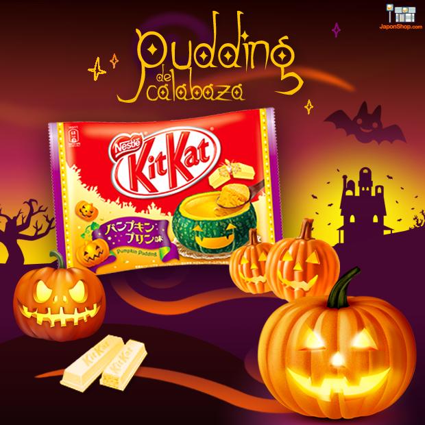 Novedad en JaponShop.com! Kit Kat de Pudding de Calabaza | Edición Halloween