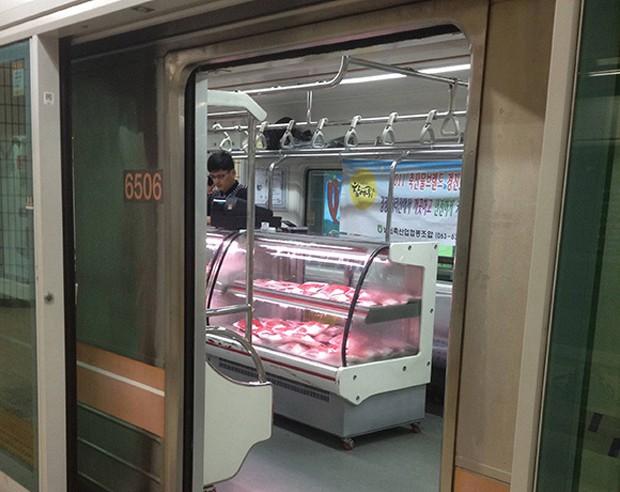 Una carnicería en un vagón del Metro de Seúl