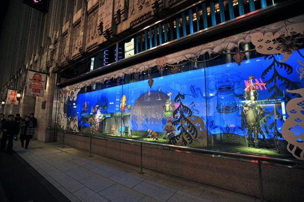 """actualidad curiosidades japon kawaii negocios ocio sociedad tokyo tv video  Las Navidades """"tenebrosas"""" de los grandes almacenes Isetan"""