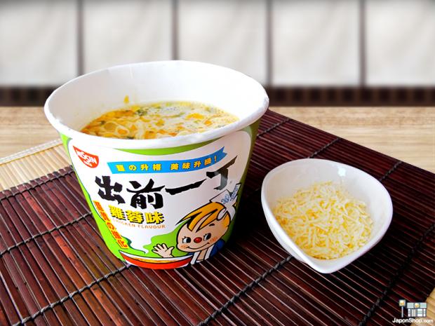 Combini Lovers comida curiosidades japon japonshop recetas video  Probamos el Ramen de Pollo con Queso Rallado