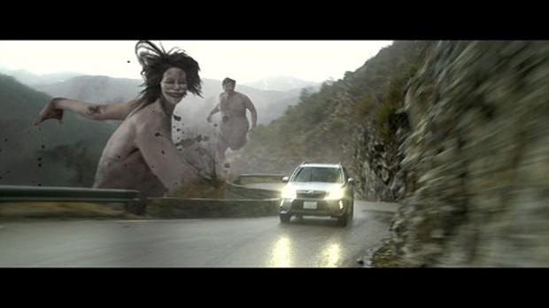 """Los espectaculares """"Titanes"""" de imagen real del anuncio del """"SUBARU Forester"""""""