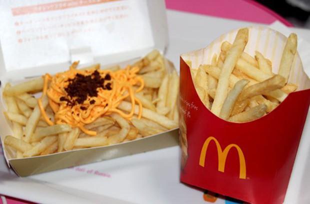 """actualidad comida curiosidades japon negocios ocio sociedad  Las patatas de Mc Donald's con """"noodles"""" de queso"""