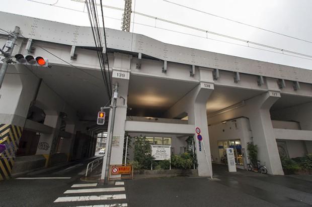 Galerias comerciales bajo los puentes ferroviarios