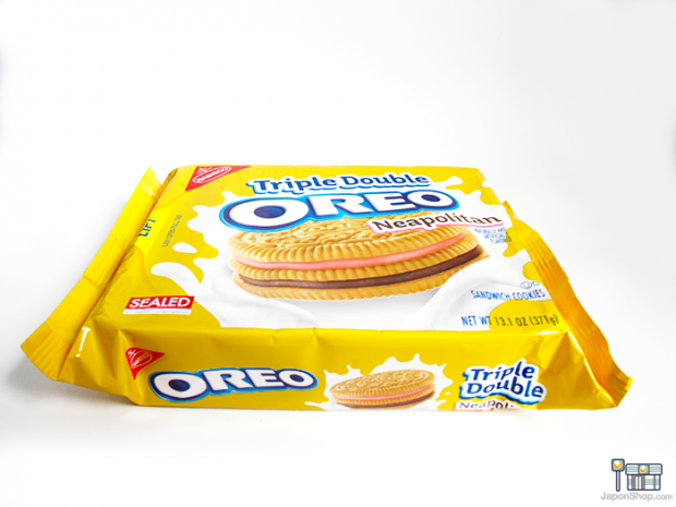 Combini Lovers comida curiosidades japonshop  Combini Lovers Review: Oreo Goldens Triple Double Sandwich de Fresa y Chocolate | Family Size