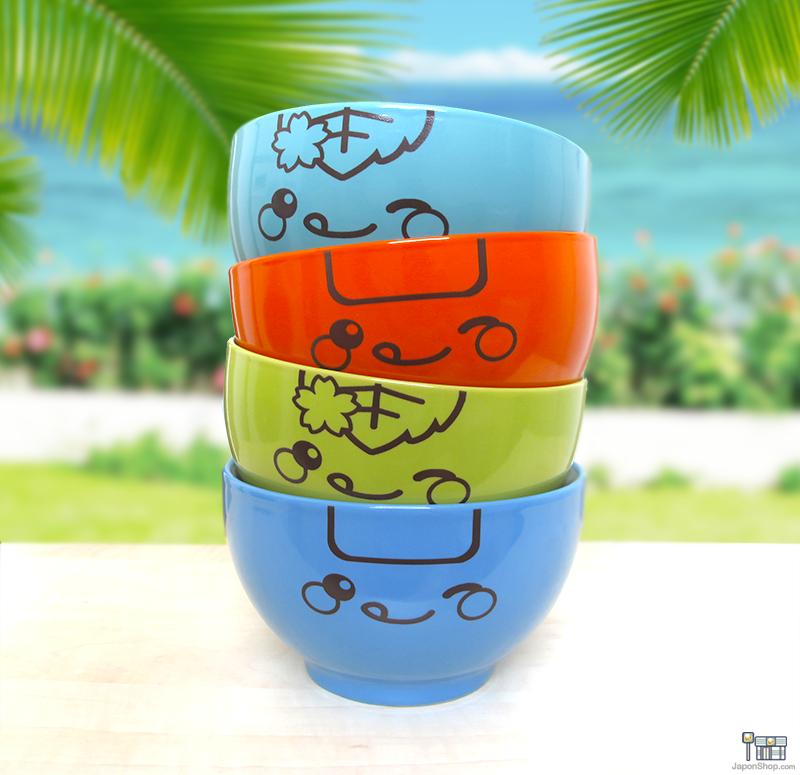 """Nuevos Bols para Ramen de Edición Limitada de Verano con nuestras mascotas """"Onigiri Kun"""" y """"Mochi San"""""""