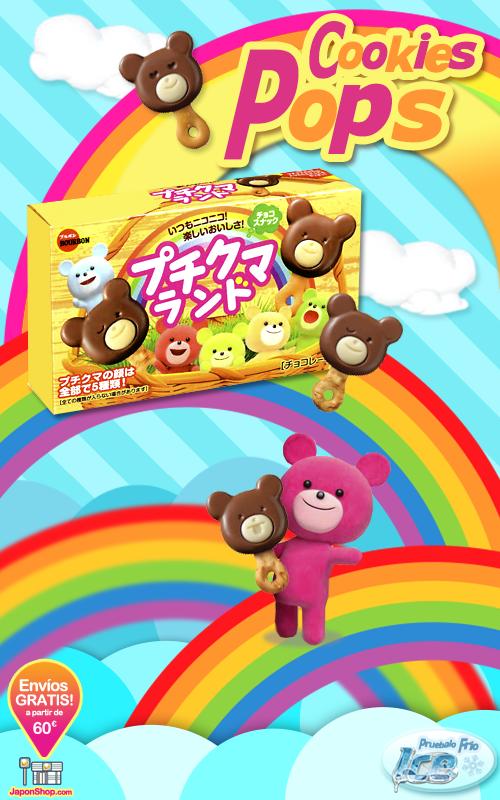 Combini Lovers comida japonshop kawaii publicidad tv video  Combini Lovers Review: Cookies Pops de Doble Chocolate y Pretzels | Family Bear Iced