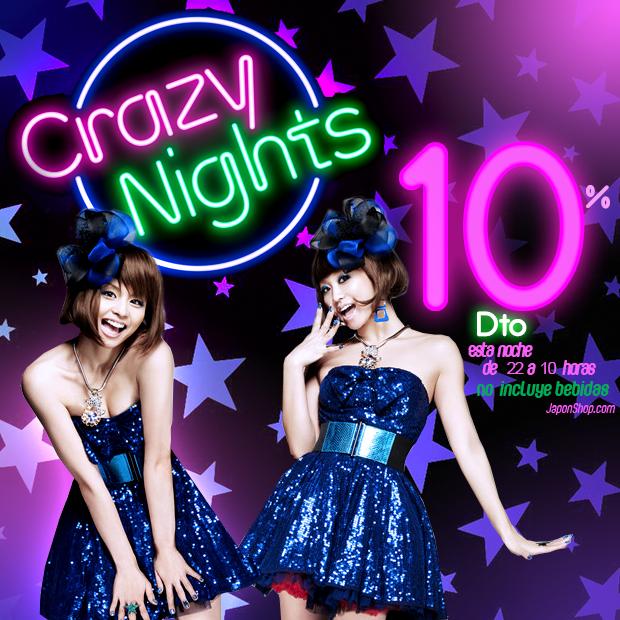 CRAZY NIGHT!!  Solo esta noche OFERTA del 10 % de DTO. en JaponShop.com