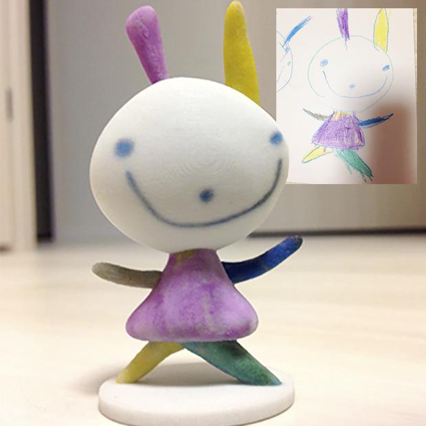 Lo último en Japón: Imprimir en 3D dibujos infantiles
