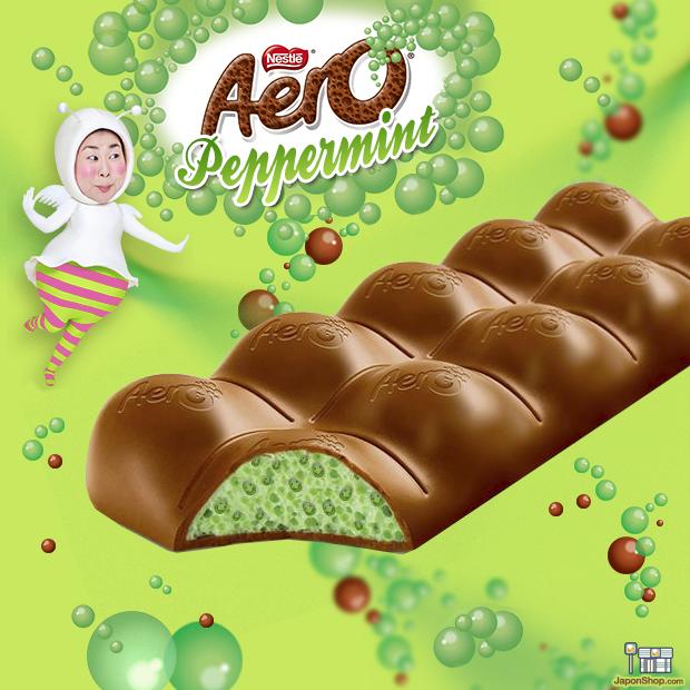 NOVEDAD en JaponShop.com! Chocolate Nestle Aero relleno de Mousse de Menta Peppermint!