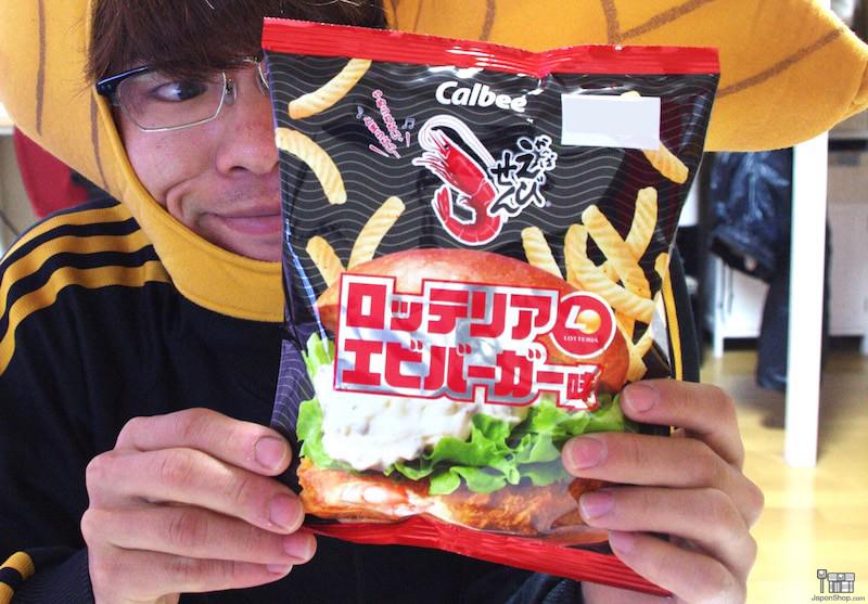Combini Lovers Review: Snack Calbee Sabor Hamburguesa de Gambas de Lotteria