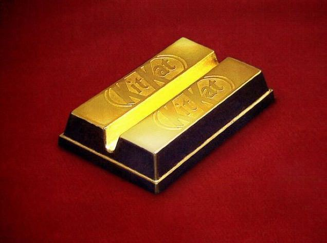 El Exclusivo Kit Kat de Oro...Comestible!