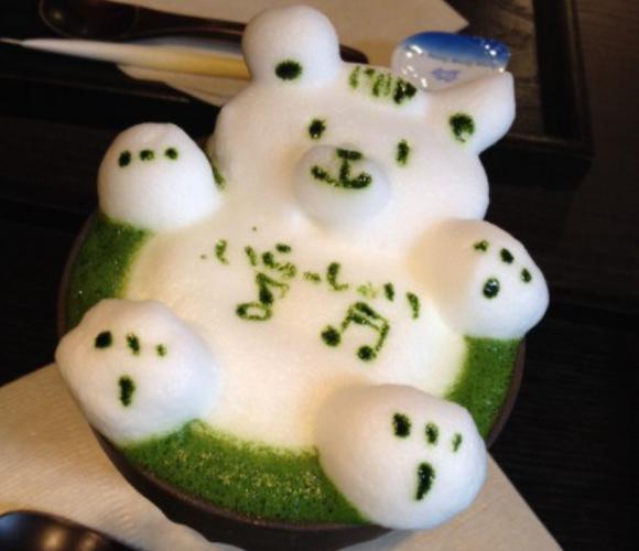 Adorables figuras 3D elaboradas con la espuma del Matcha Latte!