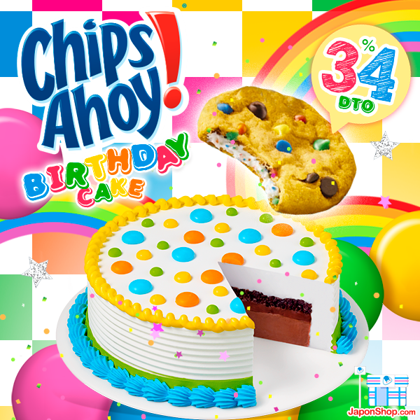 Combini Lovers comida japon japonshop kawaii  Combini Lovers Review: Nuevas Chips Ahoy Chewy rellenas de Tarta de Cumpleaños