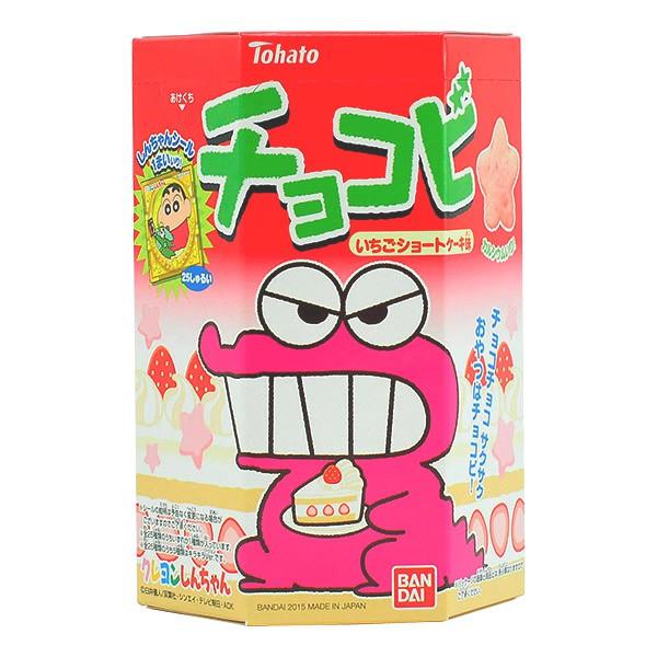 actualidad anime comida japonshop noticias  NOVEDAD! Galletas Snack Chocobi Shin Chan | Sabor Tarta de Fresas