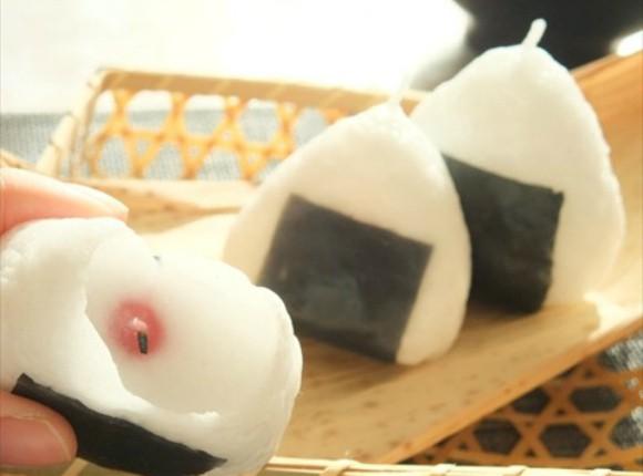 Visto en Japón: velas con forma de comida