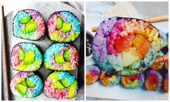 Visto en Japón! El Sushi arcoiris!