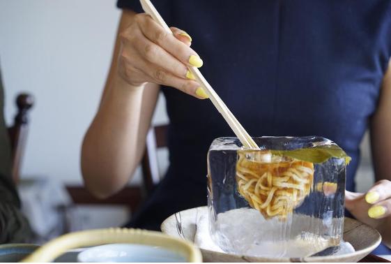 comida curiosidades japon kawaii tokyo  Visto en Japón! Comida en cubitos de hielo