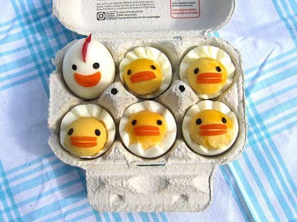 comida curiosidades japon tokyo  Como elaborar pollitos kawaii, con huevos cocidos!