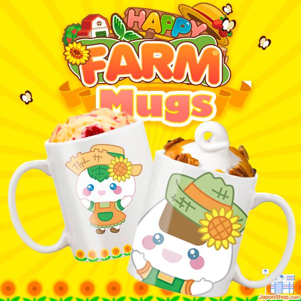 j-pop japon japonshop k-pop  Os presentamos las nuevas y divertidas Mugs oficiales de Onigiri Kun y Mochi San, FARM!