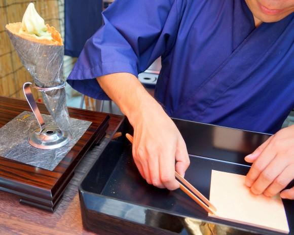 comida japon  Visto en Japón helado de oro!