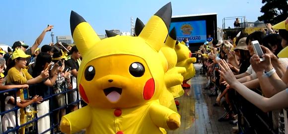 curiosidades japon  Pikachus en Yokohama