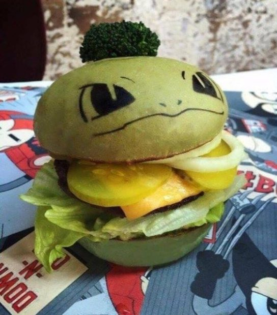comida kawaii  Hamburguesas Pokemón!!