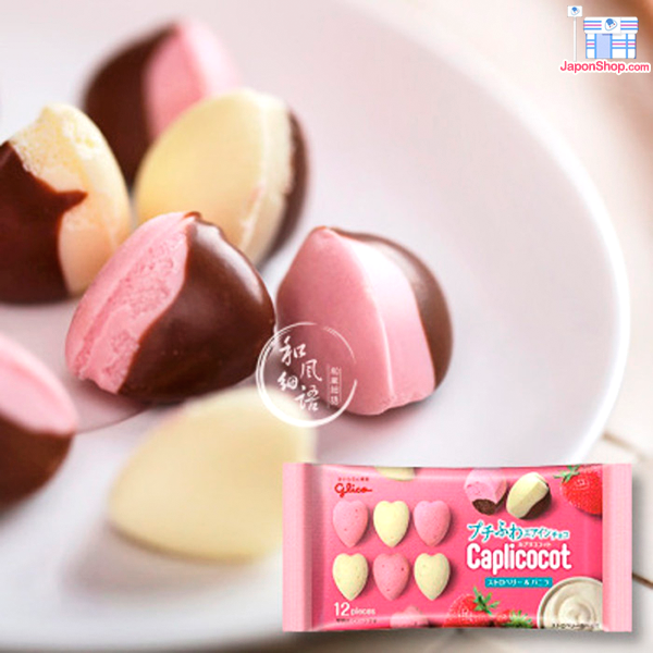 Combini Lovers comida japonshop  Hoy probamos: Pops Loves Caplico Mousse Strawberry & Vainilla GO!