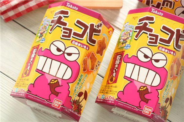 Combini Lovers comida japonshop  Galletitas Shinchan de boniato asado! 🍠🍠🍠