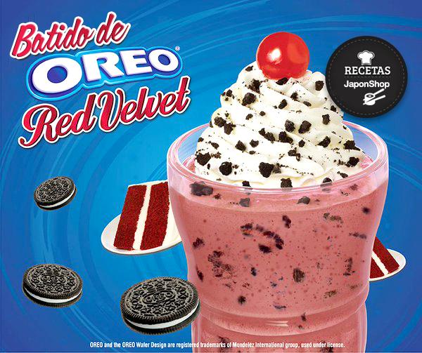 Oreo! Nueva receta irresistible Batido Red Velvet