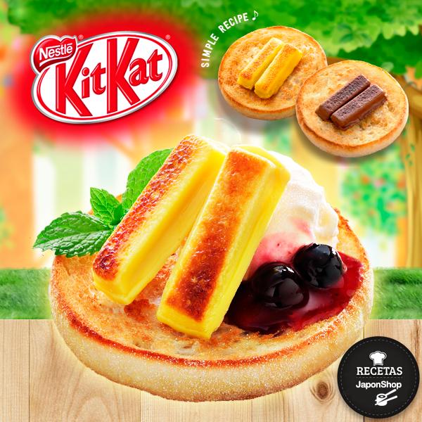 Receta fácil de Kit Kat horneado