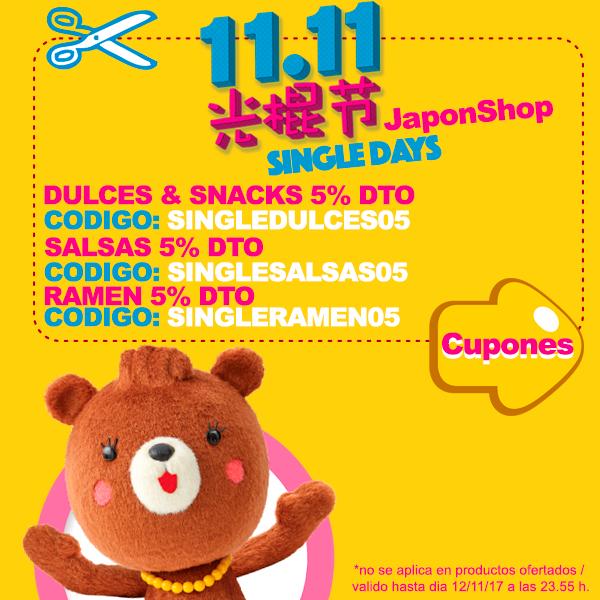SINGLEDAYS en Japonshop!! DESCUENTOS hasta 12·12!